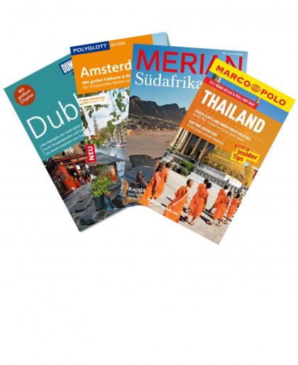Buchcover von Reiseführer und Strassenkarten